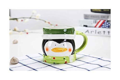 Coffee Mug Classic Santa Heads Coffee Mug Ceramic Mug Lovely Children Cup Milk Coffee Bottles Ceramic Beverage Drinking Mugs Novelty Tea Cup (Color : D)
