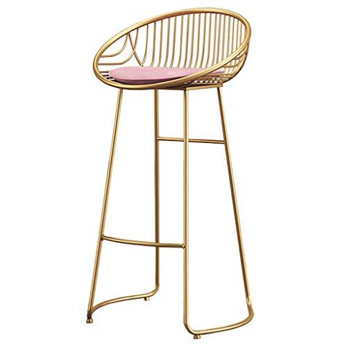 WGEMXC Stühle, Hochstühle, Barstühle, Hocker Barhocker Barhocker Eisen Hohl Rückenlehnenstuhl Pu Gepolstertem Hocker Für Home Kitchen Dessert Cafe,65 cm,65 cm