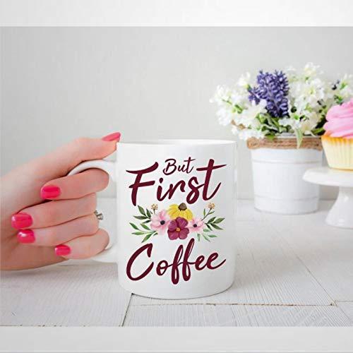 Taza de cerámica con diseño floral para amantes del café, regalo de Navidad, cumpleaños para hombres y mujeres