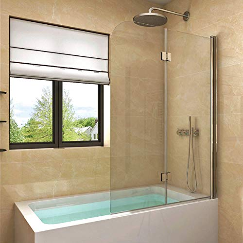 Badewannen Duschabtrennung Sicherheitsglas hell,Duschwand Duschabtrennung Nano Glas (100x140cm[BxH])