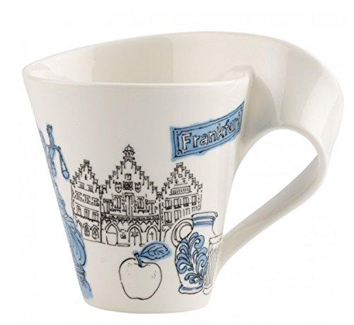 Villeroy & Boch Cities of the World Kaffeebecher Frankfurt, 300 ml, Premium Porzellan, blau