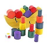 freneci Balance Stacker Spielform Stapeln Baustein Farberkennung Entwicklung Motorik Geometrische Form Sensorisches Spielzeug Spiel für Kinder