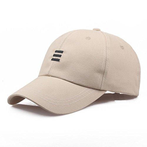 Kappe Baseball Cap Unisex Hüte Hip-Hop Verstellbare Baseballmütze Sunday (Beige)