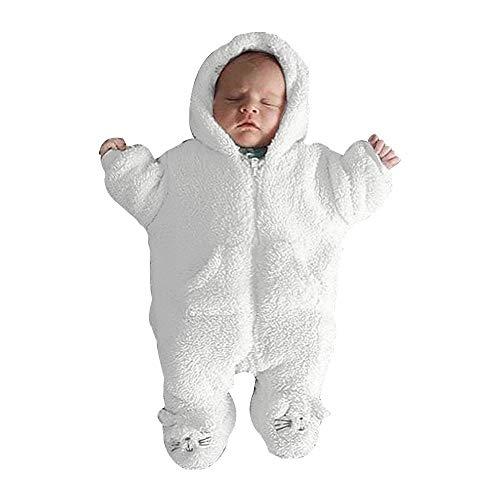 Suave Pijama otoño e Invierno más Terciopelo Mono cálido para recién Nacido bebé niño niña...