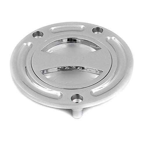 HTT Motorrad-Gasdeckel, Chrom, Keyless, Twist Off, Tankdeckel für Honda CBR 600 F2/F3/F4/F4i/ 600RR/ 900RR/929RR/954RR/1000RR/RVF 400