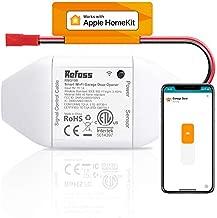 Smart Wi-Fi Garage Door Opener, Compatible with Apple HomeKit, Siri, Alexa & Google Assistant, No Hub Needed, Wireless Remote Control