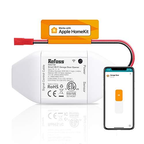 Apple HomeKit Smart Wi-Fi Garage Door Opener, Compatible with Siri, Alexa & Google Assistant, No Hub Needed, Remote Control
