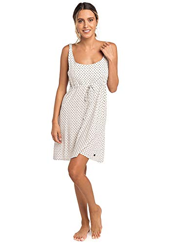 Rip Curl Misty Mini Dress Damen,Kleid,Beach-wear,Sommerkleid,kurz,ärmellos,V-Ausschnitt,Taillenzug,Sea Salt,L
