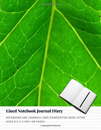 Lined Notebook Journal Diary: Notebooks And Journals Lines Composition Book Letter sized 8.5 x 11 Inch 100 Pages (Volume 19)
