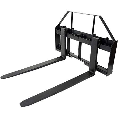 """48"""" Pallet Fork Attachment, Landscape Forks, Kubota/Holland Skid Steer, Quick Attach"""