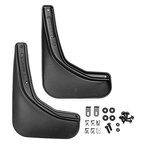 FROSCH EXP.NLF.15.10.E18 Guardabarros trasero de goma a medida para Fiat Ducato, año 00-12 Van. 2 piezas con fijación, Negro