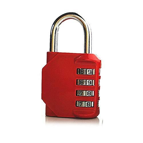 Profil Zylinder 4-Stelliges Zahlencode-Schloss RückstellbaresVorhängeschlossSicherheitDigitalezahlenschlösserfür Reisekoffer Luggage-China_Red