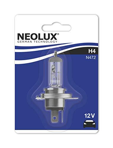 NEOLUX H4 Halogenscheinewrferlampe N472-01B 55/60W 12V P43t im Einzelblister