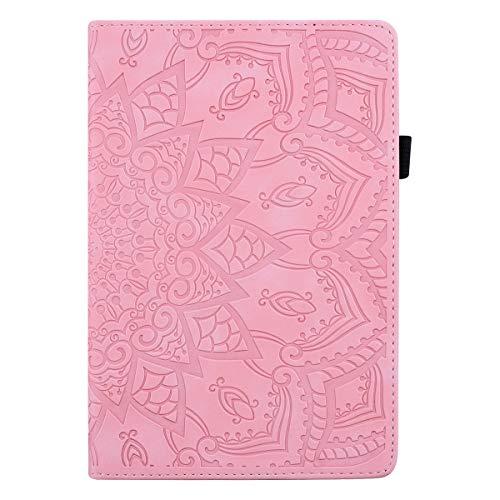 Jajacase Hülle für Galaxy Tab A 10.5 Zoll(SM-T590/T595) - PU Leder,Kratzfeste Schutzhülle Cover Hülle Tasche mit Standfunktion,Rosa
