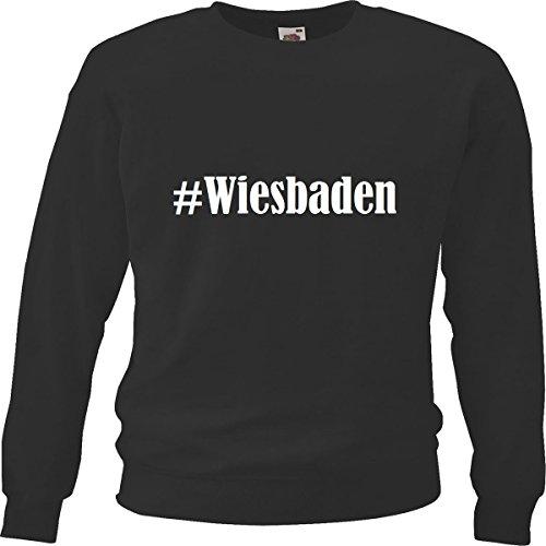 Reifen-Markt Sweatshirt Damen #Wiesbaden Größe 2XL Farbe Schwarz Druck Weiss