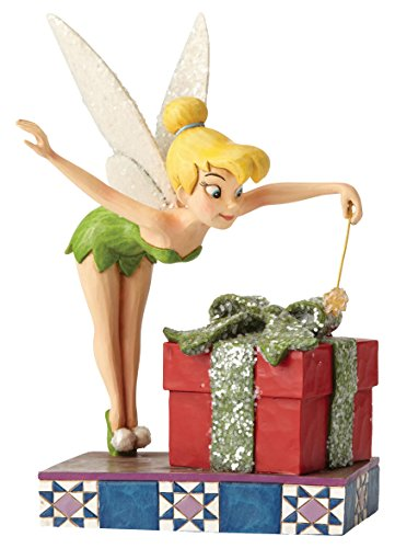 Disney Traditions, Figura de Campanilla con regalo de 'Peter Pan', para coleccionar, Enesco