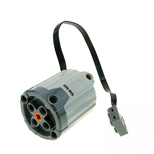 1 x Lego Electric Motor neu-hell grau schwarz Kabel 9V Power Functions XL-Motor geprüft 8882-1 58121c01