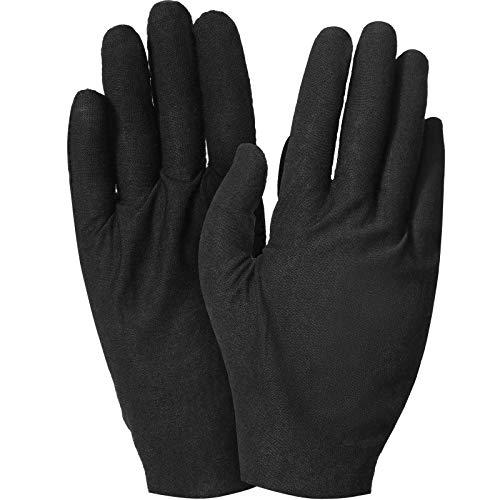 2 Paar Baumwolle Handschuhe Feuchtigkeit Handschuhe Weiche Elastische Hautpflege Handschuhe Arbeit Handschuhe für Frauen Trockene Hände Schmuck Inspektion, Einheitsgröße (Schwarz)