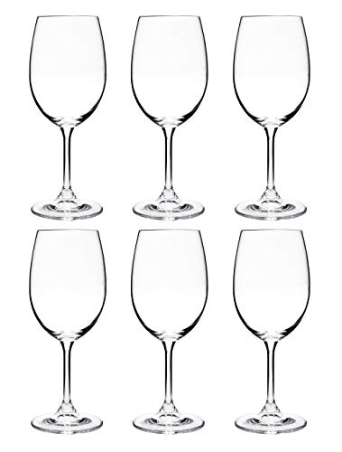 Colibri - Juego de copas de vino de cristal, 6 piezas, diseño de Bohemia Crystal 350 ml transparente