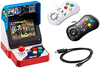 Neogeo Mini Pro Player Pack Japanese Version - Includes 2 Game Pads (1 Black & 1 White) and HDMI Cable - Neo Geo Pocket