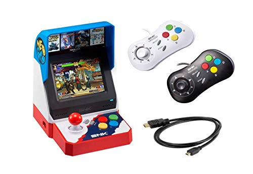 Neogeo Mini Pro Player Pack Japanese Version  Includes 2 Game Pads 1 Black amp 1 White and HDMI Cable  Neo Geo Pocket
