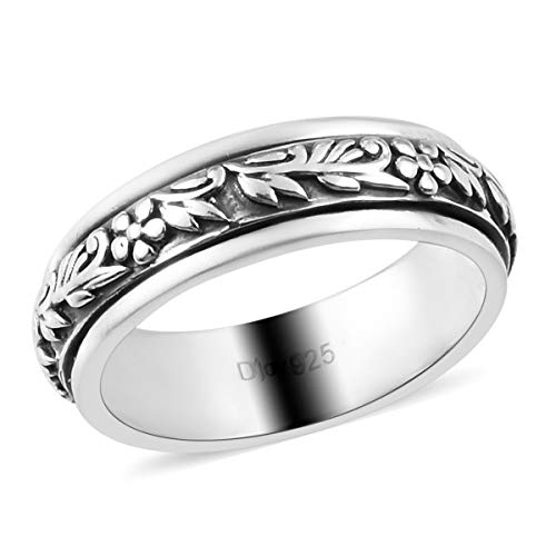 Shop LC Boho Handmade 925 Sterling Silver Spinner Ring for Women Fashion Stylish Vintage Jewelry Size 7