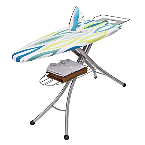 Honey-Can-Do BRD-02955 18 by 48-Inch Ironing Board with Rest and Shelf