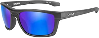 WileyX KINGPIN Sunglasses, Polarized Blue Mirror Lenses, Offered in MATTE GRAPHITE color from Eyeweb