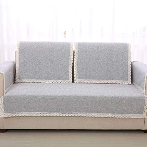 Jonist Funda de Lino para sofá, Jacquard Simple y Elegante para Sala de Estar, Funda Antideslizante para Muebles, Shield-L-90X120cm