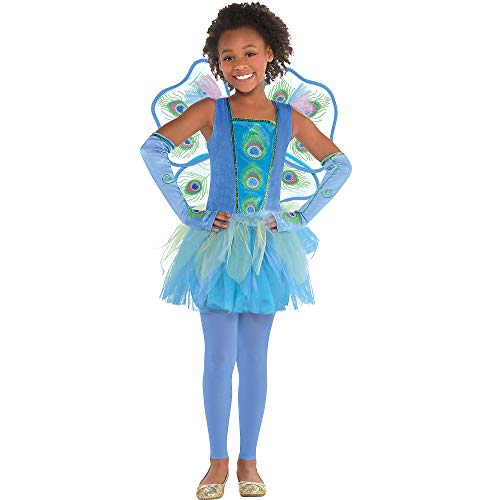 amscan 847052 Girls Princess Peacock Costume, Toddler Size (3-4 Years Old)