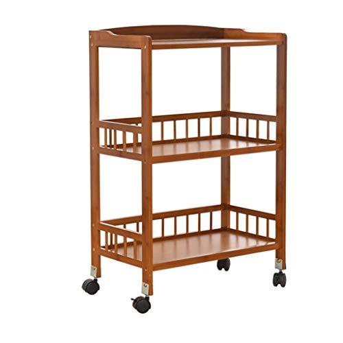 LCHY TB Racks Einkaufstrolley, Rollen, Schlafzimmer, Küche, Aufbewahrung, 3 Ebenen, Push Shelf, Gewürzkorb, Laminierkorb, Aufbewahrungskorb