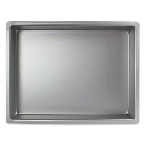 PME Molde para Pastel Rectangular de Aluminio Profundidad de 11 x 15 x 2-Pulgadas