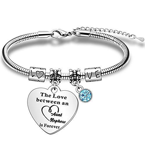 SMARGO Auntie Bracelet from Nephew Gifts for Aunty Birthday Christmas Jewelry Present