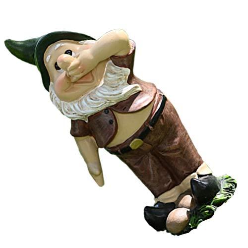 SOIMISS Dwarfs Mini Figurine Garden Gnome Statue Sculpture Ornament for Lawn Indoor or Outdoor Decoration