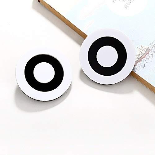 QYMX Orecchini Donna , Orecchini acrilici Rotondi per Donna Stile Bohemien Geometrico Grande Nero Bianco Orecchini a Cerchio Gioielli con Gioielli Classici squisiti Gioielli da Donna Regalo di Nozze