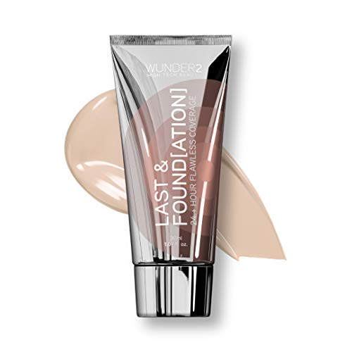 WUNDER2 Last & Foundation 24+ Hour Flawless Coverage Make Up Foundation Langanhaltend, Wasserfest, Farbe: Porcelain