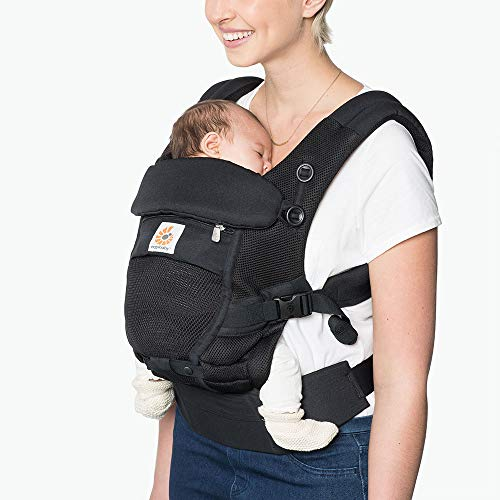 Ergobaby Adapt Baby Carrier Infant To Toddler Carrier Cool Air Mesh MultiPosition Onyx Black