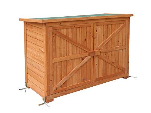 MCombo Gartenschrank Gerätescharank Gerätehaus Geräteschuppen Gartenhaus Holz