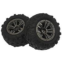 Deevoka Xinlehong Q901 Q902Q903車両DIYキット用の2個のRCカーホイールタイヤ部品