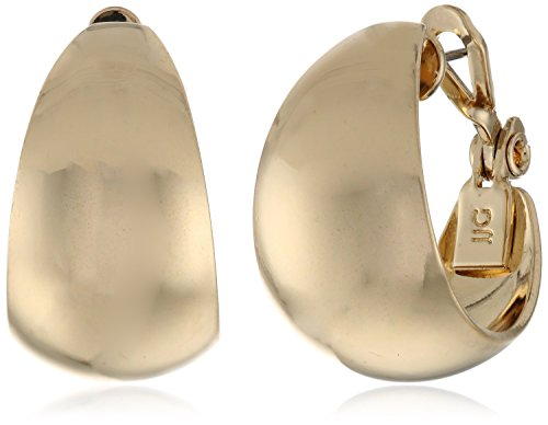 Anne Klein Classics Gold-Tone Band Hoop Earrings