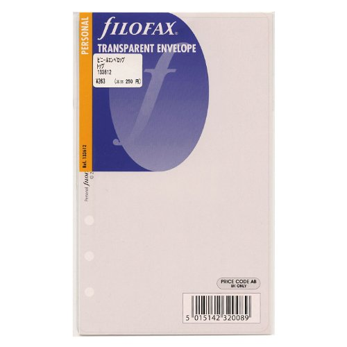 Filofax 133612 - Sobre para uso general, tamaño 17.1 X 10.1 cm, transparente