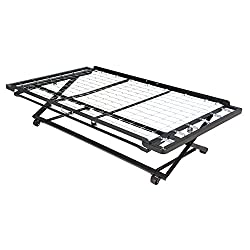 Leggett & Platt Pop-Up Link Spring Trundle Bed with Dual Gravity Locks, Twin