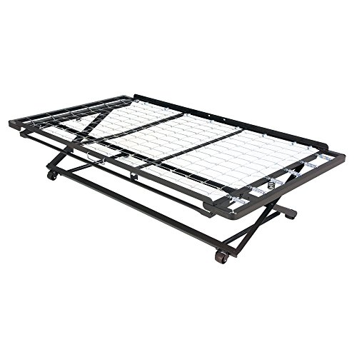 Leggett & Platt Pop-Up 39-Inch Link Spring Trundle Bed with Dual Gravity Locks, Twin