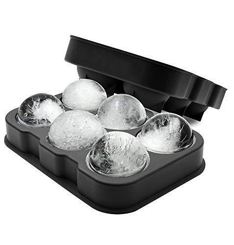 FuKiPro Funky Kitchen Products XXL-Eiskugelform für 6 Eiskugeln mit 4,5 cm Durchmesser aus Silikon (Einzelpack)