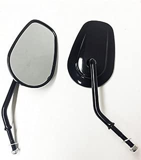 HTTMT MT398-BK Black Rearview Shining Shining Mirrors Compatible with Harley Davidson FLSTC FXDB DYNA FXDF FLSTF 8mm