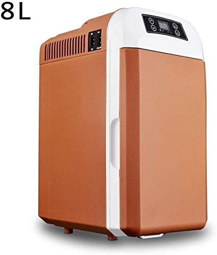 Coche Frigorífico, camping portátil de viaje refrigerador del refrigerador Calefacción multifunción inteligente Nevera Mini refrigerador del refrigerador caja, Negro 1yess (Color : Brown)
