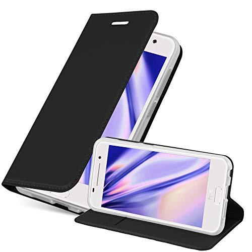 Cadorabo Hülle für HTC One A9 in Classy SCHWARZ - Handyhülle mit Magnetverschluss, Standfunktion & Kartenfach - Hülle Cover Schutzhülle Etui Tasche Book Klapp Style