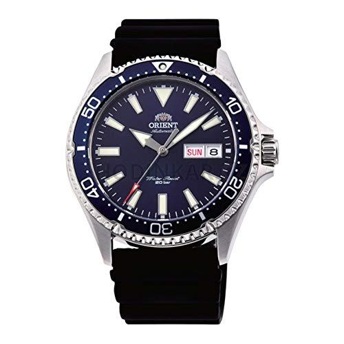 Orient Herren Analog Automatik Uhr mit Gummi Armband RA-AA0006L19B