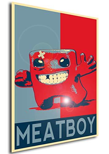 Instabuy Poster - Propaganda - Super Meat Boy - Meat Boy A4 30x21