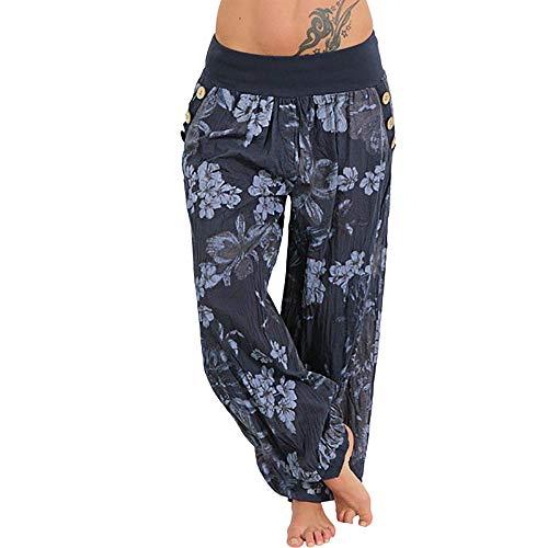 Pantalons Pantalon de Yoga Femme Pantalon de Plage Bouffant Grande Taille Sarouel Pantalon Harem Super Doux Spandex Modal Pantalons de Sport Pants Souple Pants Lanterne Imprimé Pyjama Pants